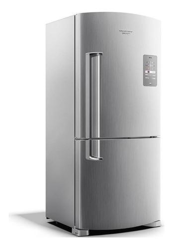 Geladeira Frost Free Brastemp Bre80ak  Inox Com Freezer 573l 127v