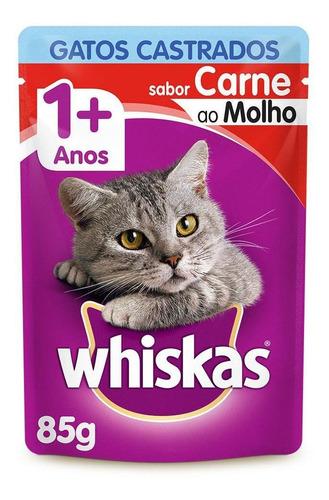 Alimento Úmido Whiskas Castrados Carne 85g