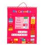 Aprender Calendário - My Soft Pink Tecido Tapeçaria