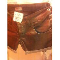 Short Jeans Com Efeito Prateado, Marca Myth..tam 36