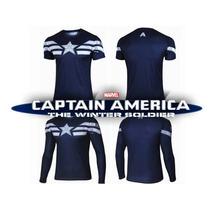 Camisa Capitão América - Marvel Comics Tam. M Pronta Entrega