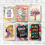 Kit 20 Placas Decorativas Pvc 13x20 Bebidas Geek Frases