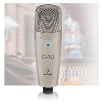 Microfone Condensador C1-u Behringer Usb C1u Estudio Podcast