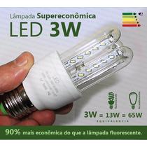 Lâmpada Led 3w Residencial Bivolt Branca Fria E27 Economica