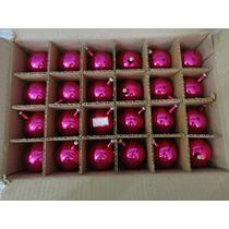 #17690 - Natal 24 Bolinhas Vidro Rosa Pink!!!