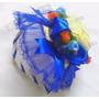 Enfeite Cabelo Tiara Junina Com Mini Chapéu Junino - Azul