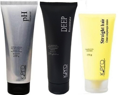 d1bec506de Kpro - Ph Balancer + Deep Recontrutor + Straight Hair+ Brind