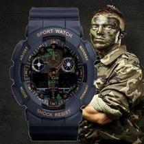 Relógio Camuflado Militar D Shock Exército