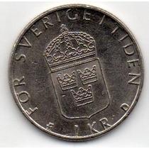 Moeda Suecia 1kr 1982
