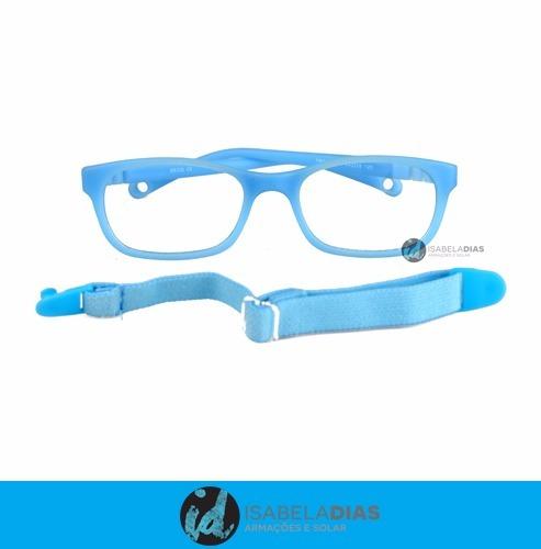 45756d278 Armação Óculos Grau Infantil Flexivel Tr90 3-8 Anos Mas Femi R$78.99 ...