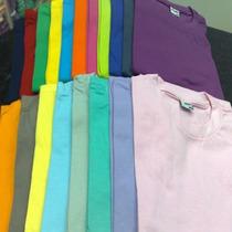 Camiseta Lisa 100% Algodão Fio 30 Penteado P/m/g\gg\xg
