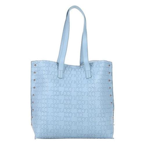 e54d0f6e8 Bolsa Colcci Shopper Croco Tachas Feminina - Azul Claro