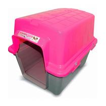 Casinha Plástica Para Cães N°4 Rosa - Furacão Pet