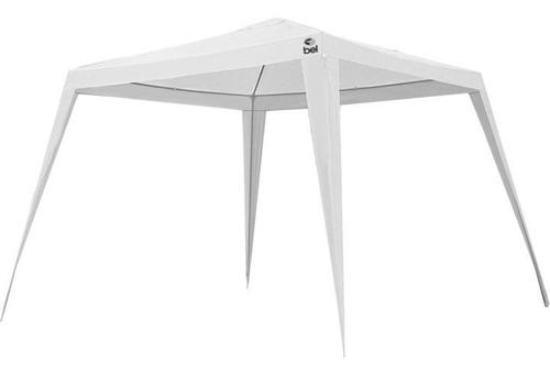 Tenda Gazebo Branca Em Polietileno 3x3 M Desmontável 301201