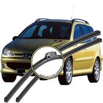 Palheta Peugeot 206 Sw - 2005 Até 2008 - Kit Diant + Tras