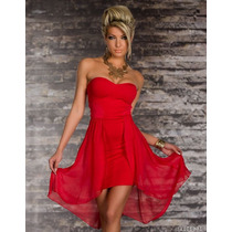 Vestido Curto Na Frente E Longo Atrás (vermelho)