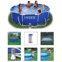 Piscina Intex 4485 L Filtro 220v Capa Forro Kit Limpeza