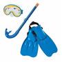 Kit Mergulhador Infantil Óculos Snorkel Pé De Pato Index