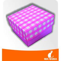 10 Caixas Papel Cartonado Rosa (6,0 X 6,0 X 4,0 Cm)