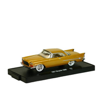 Chrysler 300c 1957 R32 M2 Machines 1:64 Dourado 11228-32h-5