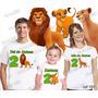 Camiseta O Rei Leão Aniversario Personalizada Com 3 Uni