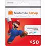 Cartão Nintendo 3ds - Wii U - Eshop Cash Card $50
