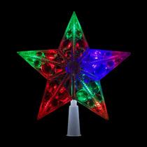 Ponteira Estrela Led Natal Decoração 10 Lampadas Colorida