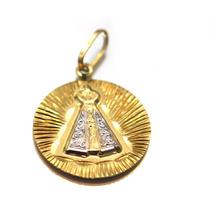 Pingente De Nossa Senhora De Aparecida Em Ouro 18 D 74