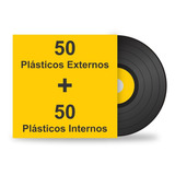 100 Plásticos Internos Externos Proteção Para Lp Disco Vinil