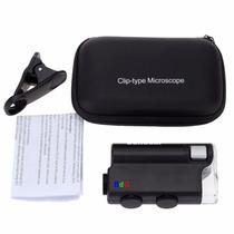 Microscópio Conta-fios 30-100x Para Celular + Case + Leds