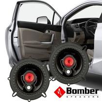 Kit Alto Falante Porta 6 Polegadas Auto Bomber Bbr 100w Rms