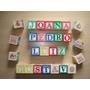 Caixa Bloco Alfabeto Cubo Letras Pedagógico Madeira