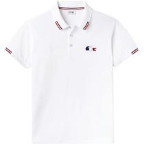 1c785f7a376 Camisa Polo Lacoste Masculina Branca 3 Botões Pronta Entrega à venda ...