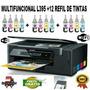 Multifuncional Epson L395  + 12 Refil De Tintas + Brinde