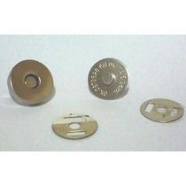 200 Botão Imantado 18mm- Cor Prata