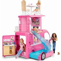 Mega Trailer Carro Barbie Family Novo - Mattel