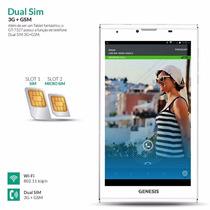 Tablet Genesis Gt-7327 2chips, Tv,gps,wii Fi,capa Frete Grát