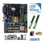 Kit Placa Mãe Gigabyte G31 + Intel Pentium E5300 3gb Cooler Original