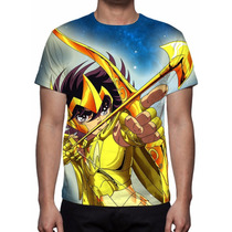 Camisa, Camiseta Cavaleiros Do Zodíaco Pegasus Seiya