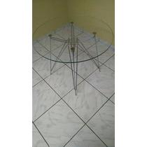 Base De Mesa Eames Torre Cromada - Pronta Entrega !!