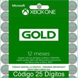 Live Gold 12 Meses Em Código 25 Dígitos Oficial