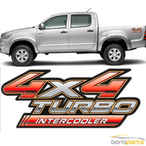 Adesivo Toyota Hilux 4x4 Turbo Ou 4x4 Turbo Intercooler 2009