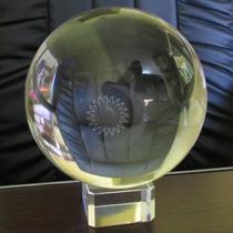 Bola De Cristal Transparente De Mesa Office 13cm