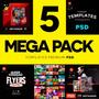 5 Mega Packs Templates Premium - Artes Psd - Frete Grátis