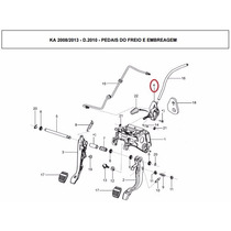 Cilindro Mestre Da Embreagem Ford Ka 08-13 Original