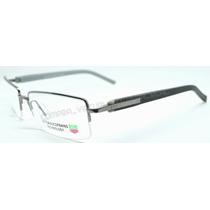 Armação Óculos Grau Tag Heuer Th1213 Preto Cinza Fio Nylon