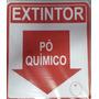 Placa Sinalizadora Extintor Pó Quimico 20x17 Centímetros Pvc
