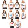 Kit 10 Camisetas Femininas Engraçadas Revenda Atacado K02