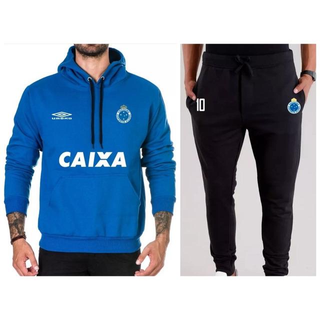 73309c5c95 Kit   Blusa + Calça Moletom Cruzeiro Time Futebol Moleton em ...