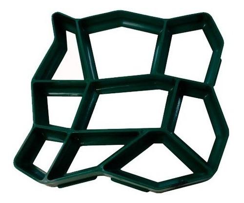 Forma Molde Piso Calçada Jardim C/instrução 50x50x4diagonal